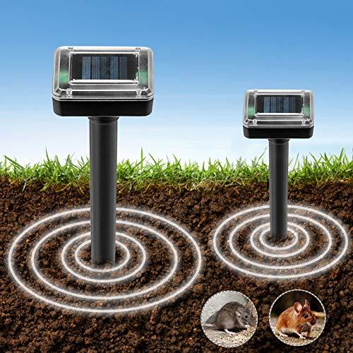 ZGWJ 2 Pack Solar Animal Stopper Spike,Solar Powered Animal Stopper for Outdoor Lawn and Garden