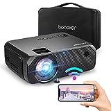 Bomaker Videoprojecteur WiFi 6000 Native 720p Le projecteur sans Fil Max 300 '' Compatible avec iPhone / Android Smart Phone / iPad / Mac / Laptop / PC