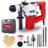 TOPEX 1010W SDS+ Rotary Hammer Drill Demolition Jack Hammer Kit w/Chisels Drill