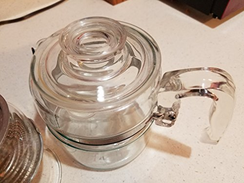VINTAGE Corning Pyrex Flameware 4 cup Percolator Coffee Pot