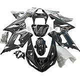 ZXMOTO Motorcycle Fairing Kit for 2005 2006 Kawasaki Ninja ZX6R 636 ABS Plastic Bodywork Fairings,Glossy Black - (Pieces/kit: 21)