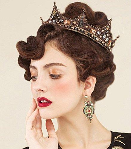 Diadema vintage Jovono, estilo corona de reina, para dama de honor y novia
