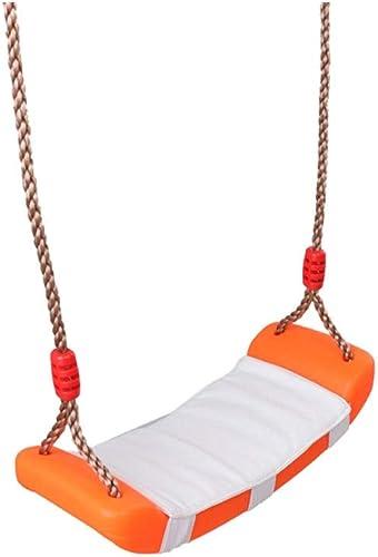King Boutiques Startseite Schaukel Kinder Ersatz Schaukelsitz mit h nverstellbaren Seilen Klettergerüst Outdoor Indoor Sport Spielzeug für Kinder Park Einrichtungen (Farbe   Orange)