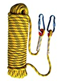 Tonyko Outdoor Climbing Rope, Rock Climbing Rope, Escape Rope, Climbing Equipment, Fire Rescue Parachute Rope (20m(65.6ft))