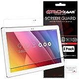 TECHGEAR [5 Stück Bildschirmschutz für Asus ZenPad 10 (Z300C / Z300M) 10,1 Zoll - Ultra Klare Schutzfolie mit Reinigungstuch + Applikationskarte