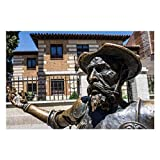 VinMea 1000Piece Wooden Jigsaw Puzzle - Don Quixote, Spain, Book, Reading, Statue, Madrid Large Puzzle Game Artwork for Adults Teens Wall Decor