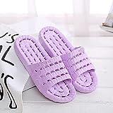 WENHUA Verano Antideslizante Suaves Zapatillas de Baño, Sandalias de Baño, Sandalias de baño de Fondo Grueso Antideslizantes para Mujer, Purple_40-41