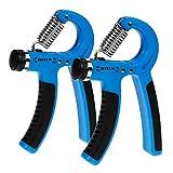 Zacro 2 Stück Handtrainer Hand Trainingsgerät Einstellbarer Widerstandsbereich 10 bis