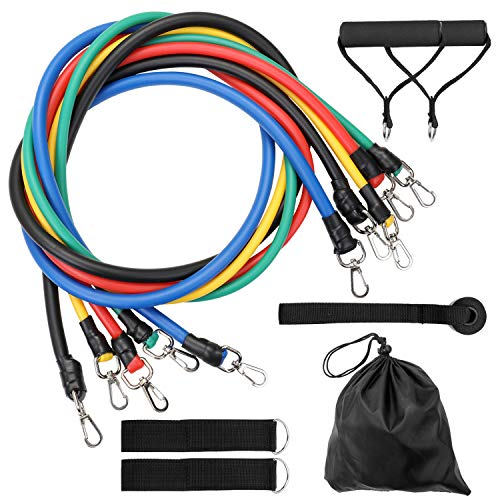 Lixada Resistance Bands Set 11 Stuks Fitness Puller Bands Multifunctionele Spier Yoga Training Touw Kracht Training Oefening Weerstand Riem