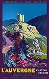 Unbekannt Poster Auvergne Schloss Aleuze, Reproduktion, 50