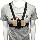 Wxnnx Arnés de correa de montaje en el pecho 2 en 1 con clip para teléfono y gancho en J, tornillo y adaptador para cámara de acción deportiva/cualquier teléfono inteligente