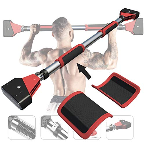 EKN Pull Up Bar Station Foldable for Door, Pull Up Bar Stand for Doorway Wall Mounted Body Gym System with Upgraded Thickened Steel No Installation Needed with Angled Grip Chin Up Bar 75-100cm