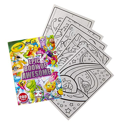 Crayola Epic Book of Awesome, All-in-One Coloring Book Set, 288 Pages, Kids Indoor Activities, Gift