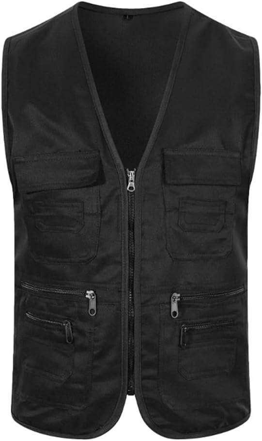 HYFDGV Fishing Vests for Time sale Men Vest Max 78% OFF Ja Casual Multi-Pocket