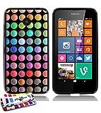 MUZZANO Le Glossy-Custodia Morbida, Motivo Make Up, con Pennino e Panno di Pulizia, per Nokia Lumia 635
