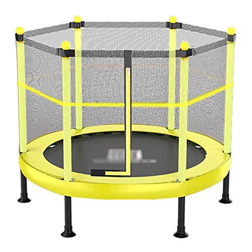 Yshca 48 inch fitnesstrampoline, opvouwbaar, mini-trampoline, veiligheidsnet, bouncing bed met randbescherming, gordelsysteem voor kinderen