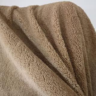 Soft Sherpa Fleece Lamb Fur Fabric Berber Fleece Fabric Lining Cloth Faux Wool Coat Liner 60