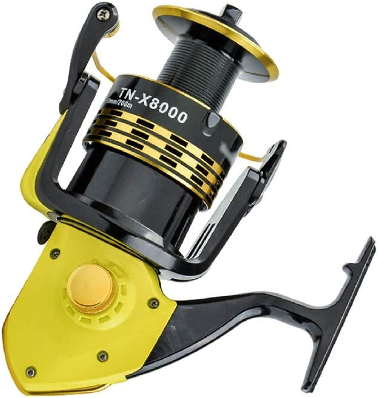 LLJPYX7L Leistungsstarke Rolle, schnellere Schnurwiederherstellung 10BB rostfreie Lager, Links und rechts austauschbar, geeignet for das Salzwasser- und Süwasserfischen (Farbe   8000)