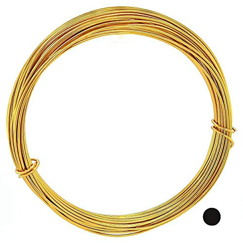 32.8 Feet Aluminum Wire for Craft/Jewelry Making and Wire Sculpting (Gold, 0.8MM/20 Gauge) from Craft Wire