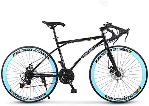 BXWT Black Blue 26 Inch 24-Speed Mountain Bike Bicycle Adult Student Outdoors Sport Cycling Road Bikes Exercise Bikes Hardtail Mountain Bikes,High Carbon Steel Frame,Men's And Women Adult-Only