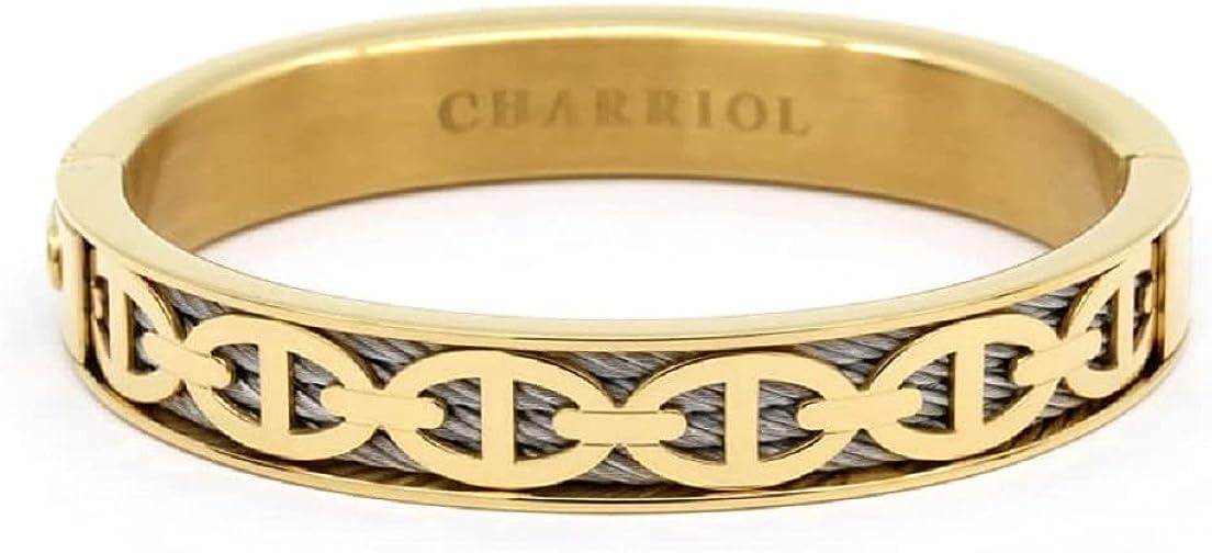 CHARRIOL FOREVER MARINE STEEL PVD BANGLE - 04-104-1139-25