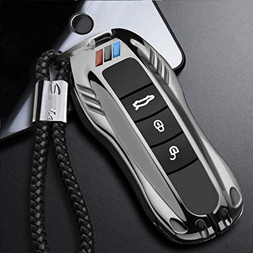 WBMKH Smart key bag for For Car key case cover fob car remote key shell car styling For Porsche Panamera macan boxster Cayman cayenne 718 911 971 9YA, Keychain protector (Color : B type 02)