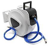 WilTec Dévidoir de Tuyau à air comprimé 20m Automatique Enrouleur pneumatique