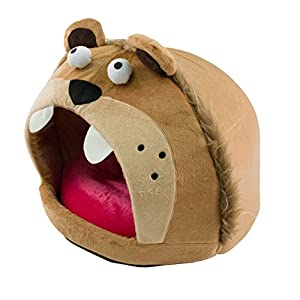 Image: Roar Bear Snuggle Plush Polar Fleece Pet Bed