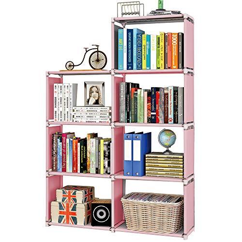 MOAMUN Estantería en forma de cubo con 7 compartimentos, estantería con cubos, organizador de archivos, armario para salón, habitación de los niños, libros, ropa, juguetes (Color2)
