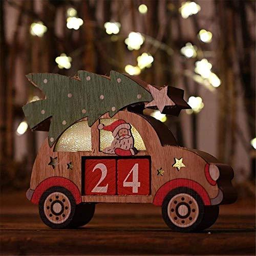 Detazhi Count Down Adventskalenderblöcke |Tage bis Weihnachten |100{55849f43e6afe55048c45798bad3e1b8809927af8c1c0aefc2f0216869849619} Holz Bauen | perfekt für Tische und Regale |Premium Feiertag Deacute; COR, Tabletop Weihnachtszweig (Color : B)