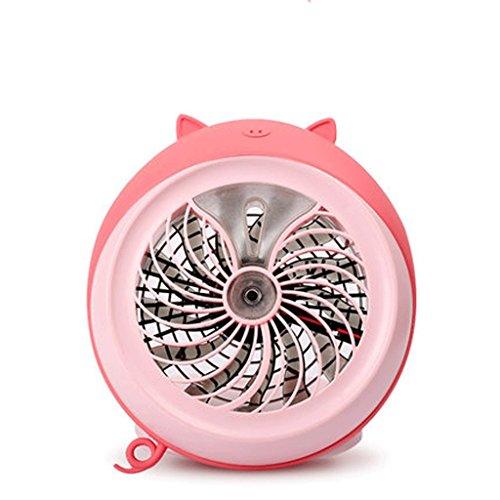 Ventiladores de sobremesa Ventilador de pulverización Mini Cama de Estudiante de Dormitorio Ventilador de Aerosol USB Recargable de Dibujos Animados Lindo Escritorio de Ventilador portátil