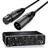 Behringer Interface Audio UMC-202HD U-Phoria + Cable Premium XLR Macho/XLR Hembra 6 Metros