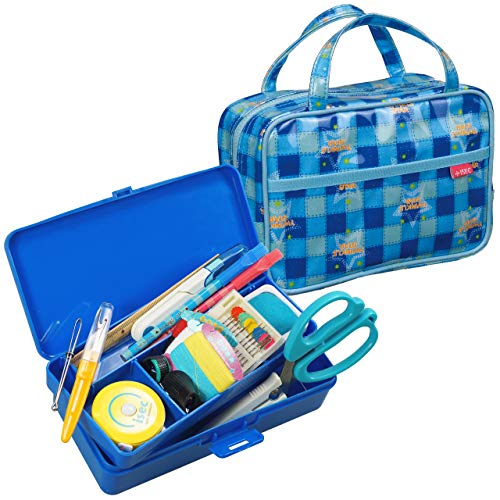 [アイセック] バッグイン裁縫セット 標準 (ブルー) BAG