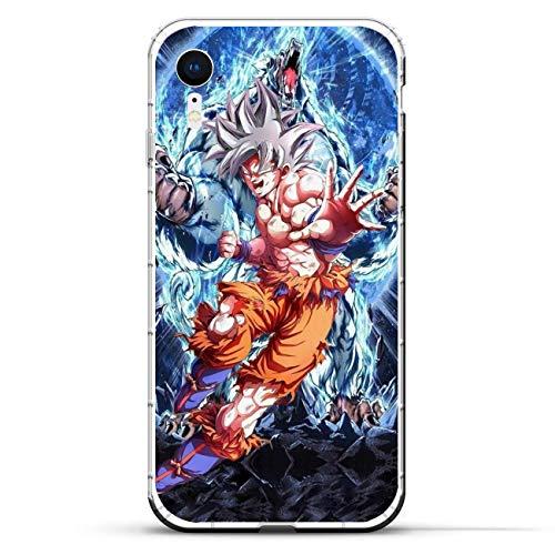 A-Legend Ultra Clear Coque Thin Lightweight Anti-Skid Soft Flexible Gel TPU Case Cover for Apple iPhone XR-Son-Goku Dragon-Ball 5