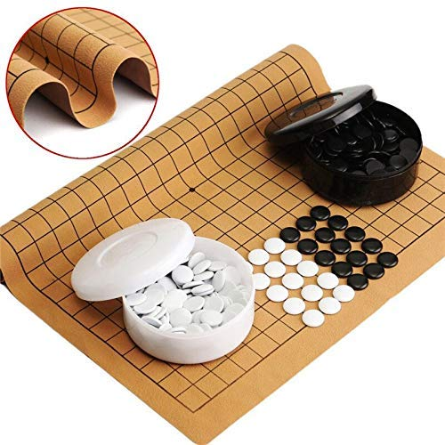 Schaken Dammen en Backgammon Entertainment Chess Games Party Games 361PCS Weiqi Professional Go-spel suède Sheet Chinese Play Plezier for Audults Kids zhihao