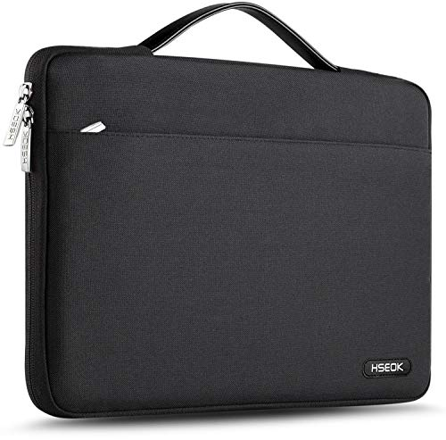 Hseok Maletin Portatil 15 15,6 16 Pulgadas Funda Protectora Delgada Impermeable para MacBook Pro 15 16 y 15'-16' Laptop Ultrabook Chromebook, DELL HP Lenovo Acer Ausu y más, Negro