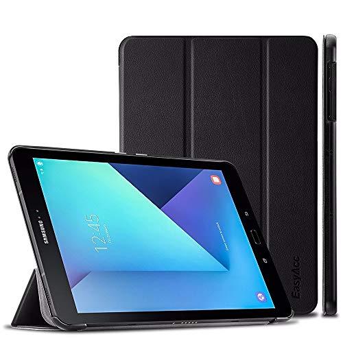 EasyAcc Hülle für Samsung Galaxy Tab S3 T820/ T825, Hülle Cover mit Standfunktion/Automatische Funktion PU Leder Hüllen Kompatibel für Samsung Galaxy Tab S3 (9,68 Zoll) Smart Cover (Schwarz)