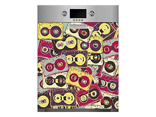 Oedim Vinilo para Lavavajillas Mosaico de Cintas, Vinilo Decorativo para lavavajillas, decoración para cocinas, Pegatina lavavajillas