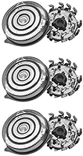 P-BLADEZ 3pcs Replacement Heads Blades Blade HQ9 Shaver Razor Head Compatible with Philips Norelco 8140XL 8150XL 8160XL 8170XL 8171 8175