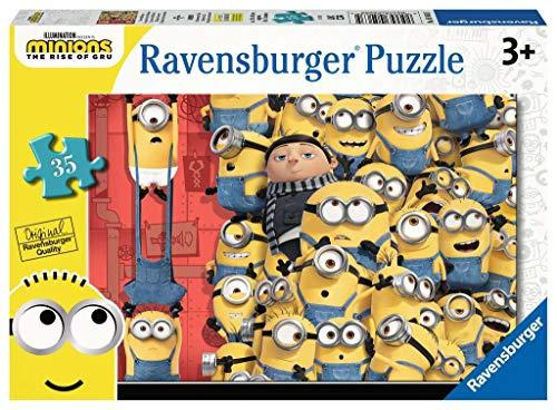 Ravensburger Minions 2 The Rise of Gru-Puzzle da 35 pezzi, per bambini dai 3 anni in su, 5063
