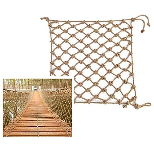 Zairmb Climbing hemp rope net And Hook hammock net Protective fence net Photo wall Hanging net Decorative net And Shed compartment net Stair net-1x7m
