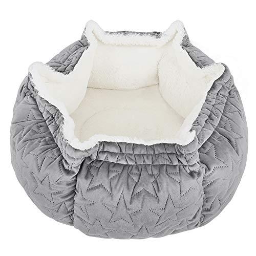 Cama para Gatos y Perros Pequeños Suave Cómodo Suave Cama Antiestres Gato para Animales Domésticos Cachorros para Dormir Descansar Invierno ⭐