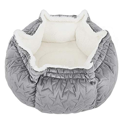 G.C Cat Bed for Cats & Small Dogs Grey Self Warming Basket Pet Bed, Small Fluffy Cat Bed Kitten Bed Sofa for Improved Sleep, Washable Cat Bedding with Anti-slip Bottom