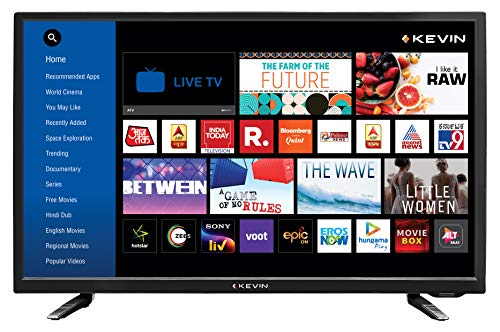 Kevin 80 cm (32 Inches) HD Ready LED Smart TV K32CV338H (Black) (2021 Model)