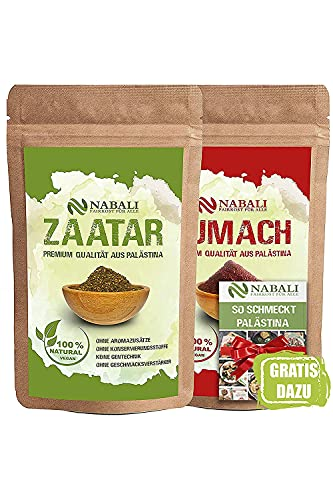 NABALI FAIRKOST Zaatar & Sumach productos de calidad según Ottolenghi de Palestina cada I 100% natural aromático Tradicional Oriental I sin conservantes I vegano (100 g)