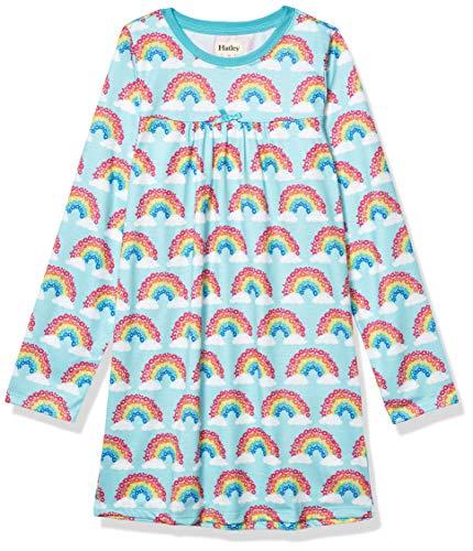 Hatley Girls' Long Sleeve Nightgowns, Magical Rainbows, 3 Years