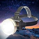 Lampada Frontale A LED Da Incasso 2000mAh Luce Gialla/Bianca Da Campeggio LED Torcia Torcia Fari Con Caricatore CC