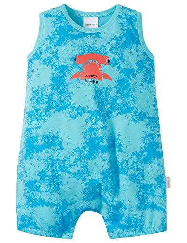 Schiesser Baby-Jungen Spieler 0/0 Zweiteiliger Schlafanzug, Blau (Aqua 833), 86 (Herstellergröße: 086)