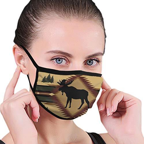 Russische Pop Stof Unisex Herbruikbaar Masker Warm Winddicht Anti Stoffilter Gezicht Mond Masker Voor Man Vrouw Eén maat Southwest Moose Lodge