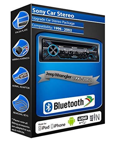 Jeep Wrangler Lecteur CD, Sony Mex-n4200bt Car Radio Mains Libres Bluetooth, USB, aux